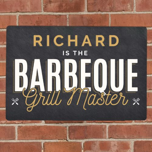 BBQ Grill Master Metal Sign
